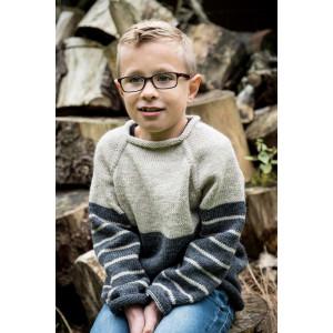 Mayflower To-farvet Sweater - Bluse Strikkeopskrift str. 4 år - 12 år