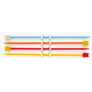 Pony Strikkepindesæt til børn 19cm 3,25mm + 4,00mm Ass. farver