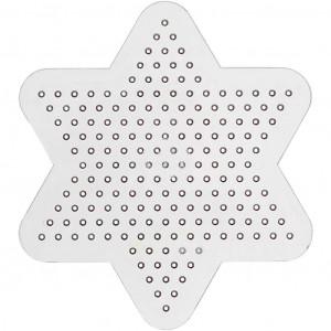 Perleplade Stjerne Transparent 10cm - 10 stk