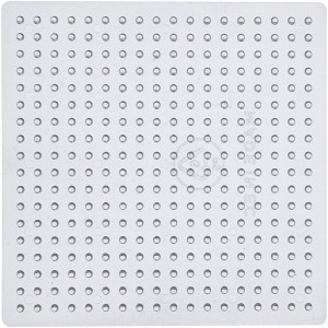 Perleplade Lille Kvadrat Transparent 7x7cm - 10 stk