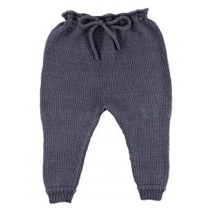 Go handmade Baby Gamacher Mørkegrå - Bukser Strikkekit str. 3 - 6 mdr