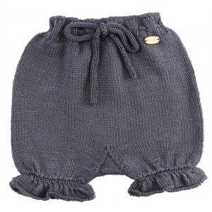 Go handmade Baby Bloomers Mørkegrå - Blebukser Strikkekit str. 3 - 6 mdr