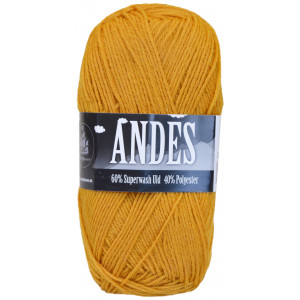 Mayflower Andes Garn Unicolor 04 Sennepsgul