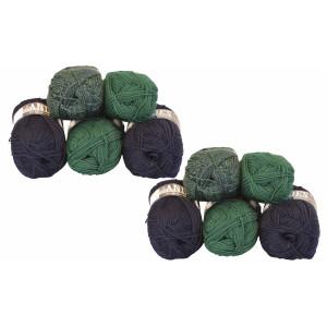 Mayflower Andes Garnpakke 10 nøgler Grøn/Blå - 10 stk
