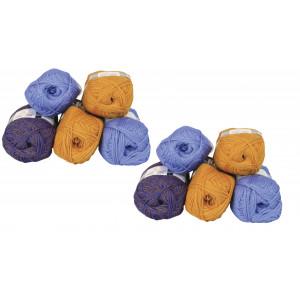 Mayflower Andes Garnpakke 10 nøgler Gul/Blå - 10 stk