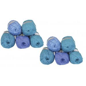 Mayflower Andes Garnpakke 10 nøgler Turkis/Blå - 10 stk