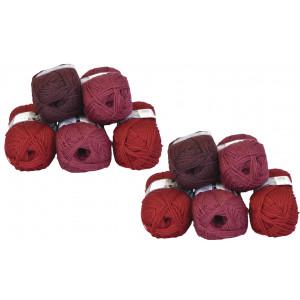 Mayflower Andes Garnpakke 10 nøgler Rød/Bordeaux - 10 stk
