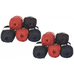 Mayflower Andes Garnpakke 10 nøgler Rød/Sort - 10 stk