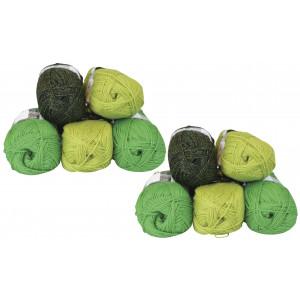 Mayflower Andes Garnpakke 10 nøgler Grøn/Lime - 10 stk