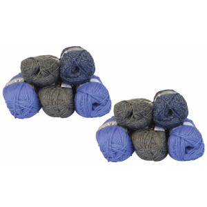 Mayflower Andes Garnpakke 10 nøgler Blå/Grå - 10 stk