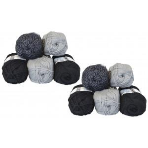 Mayflower Andes Garnpakke 10 nøgler Grå/Sort - 10 stk