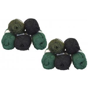 Mayflower Andes Garnpakke 10 nøgler Grøn/Sort - 10 stk