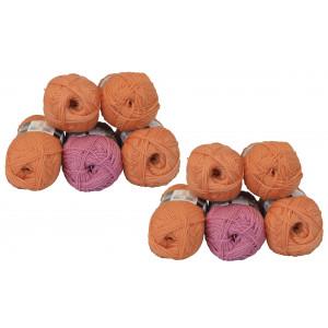 Mayflower Andes Garnpakke 10 nøgler Orange/Rosa - 10 stk