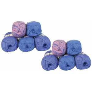 Mayflower Andes Garnpakke 10 nøgler Blå/Lavendel - 10 stk