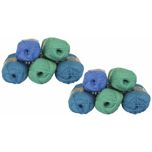 Mayflower Andes Garnpakke 10 nøgler Petrol/Grøn - 10 stk