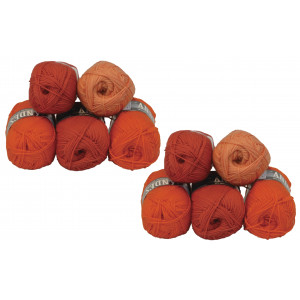 Mayflower Andes Garnpakke 10 nøgler Rust/Orange - 10 stk