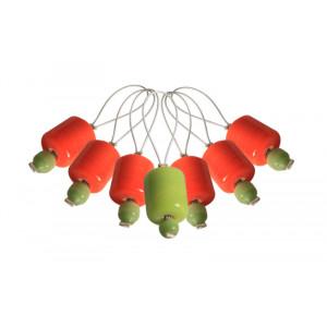 Image of   KnitPro Zooni Markeringsringe Orange Lily - 7 stk
