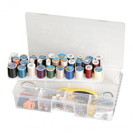 ArtBin Plastboks til sytråd og tilbehør Transparent 40x24x8cm thumbnail