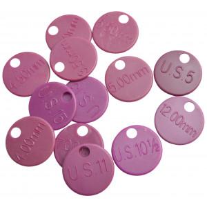 KnitPro Nummeranvisere 3,50-12,00mm (US4-US17) - 12 stk