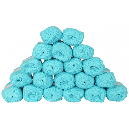 Image of   Drops Loves You 8 Garnpakke Unicolor 10 Turkis - 20 stk