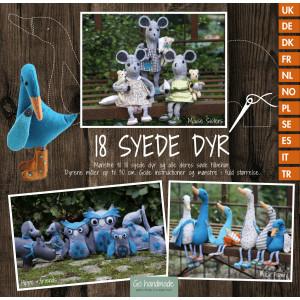 Image of   18 Syede Dyr - Bog fra Go Handmade