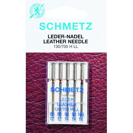 Image of   Schmetz Symaskinnåle Læder Ass. 80-100 - 5 stk