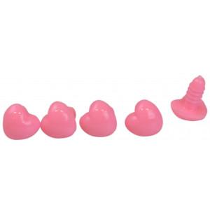 Infinity Hearts Sikkerhedsøjne / Amigurumi øjne Hjerte Lyserød 18x13mm 5 stk - Uden sikkerhedslås