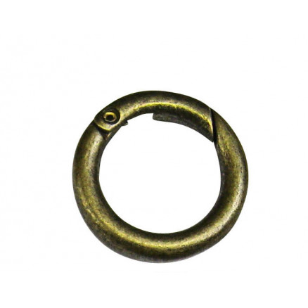 Image of   Karabinring/Karabinhage Rund Gl. messing 16mm - 1 stk