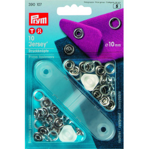 Prym Jersey Trykknapper Ring Sølv 10mm - 10 stk