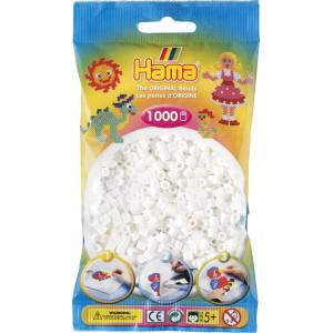 Hama Midi Perler 207-01 Hvid - 1000 stk