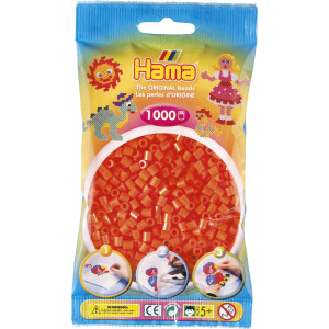 Hama Midi Perler 207-04 Orange - 1000 stk