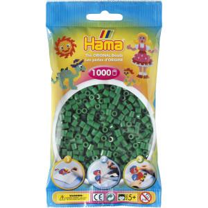 Hama Midi Perler 207-10 Grøn - 1000 stk