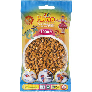 Hama Midi Perler 207-21 Lysebrun - 1000 stk