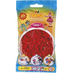 Hama Midi Perler 207-22 Julerød - 1000 stk