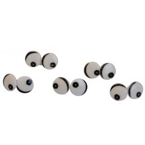 Infinity Hearts Sikkerhedsøjne / Amigurumi øjne med øjenlåg 16mm - 5 stk