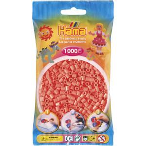 Hama Midi Perler 207-44 Pastel Rød - 1000 stk