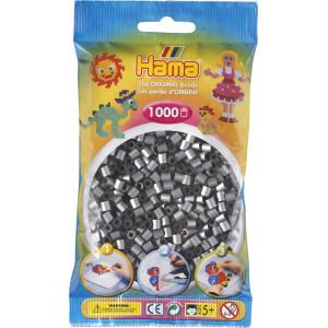Hama Midi Perler Sølv 1000 stk