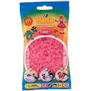 Hama Midi Perler 207-72 Transparent Pink - 1000 stk