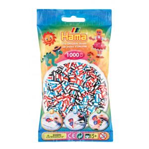 Hama Midi Perler Stribet Mix 91 1000 stk