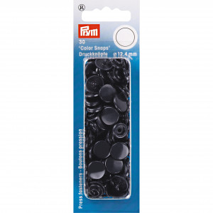 Image of   Prym Color Snaps Trykknapper Plast Rund Marine 12,4mm - 30 stk