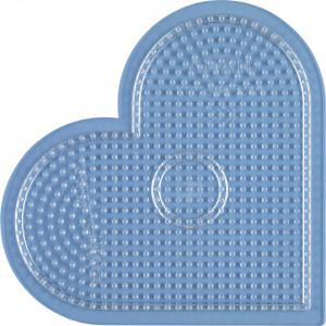 Hama Midi Perleplade Hjerte Stor Transparent 17,5x15,5cm - 1 stk