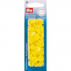 Prym Color Snaps Trykknapper Plast Rund Stærk Gul 12,4mm - 30 stk