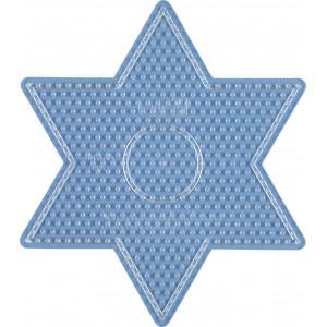 Hama Midi Perleplade Stjerne Stor Transparent 16,5x14cm - 1 stk