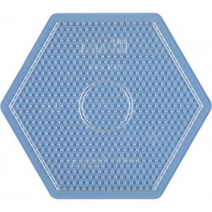 Hama Midi Perleplade Sekskant Stor Transparent 16,5x14,5cm - 1 stk