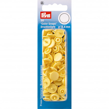 Image of   Prym Color Snaps Trykknapper Plast Rund Banan 12,4mm - 30 stk