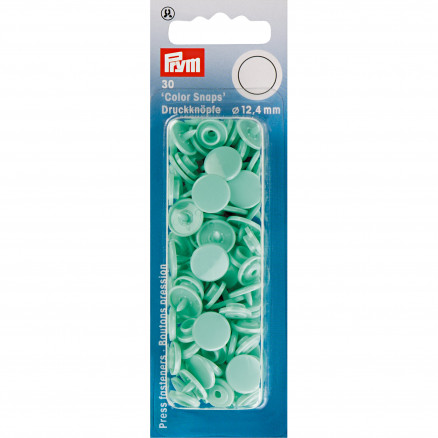 Image of   Prym Color Snaps Trykknapper Plast Rund Mint 12,4mm - 30 stk