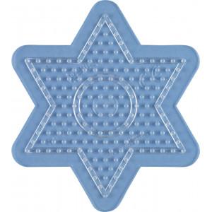 Hama Midi Perleplade Stjerne Lille Transparent 10x9cm - 1 stk