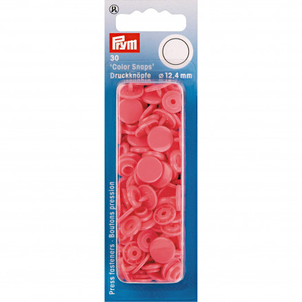 Image of   Prym Color Snaps Trykknapper Plast Rund Hindbær 12,4mm - 30 stk