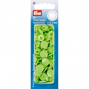 Image of   Prym Color Snaps Trykknapper Plast Rund Æblegrøn 12,4mm - 30 stk