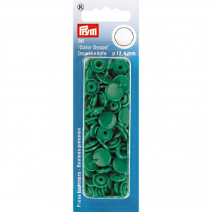 Image of   Prym Color Snaps Trykknapper Plast Rund Græsgrøn 12,4mm - 30 stk